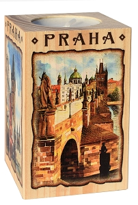 Wooden Picture Candlestick 6x9 Charles Bridge