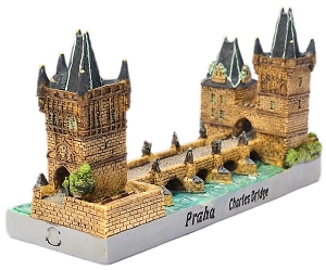 Prague Charles Bridge ceramic model