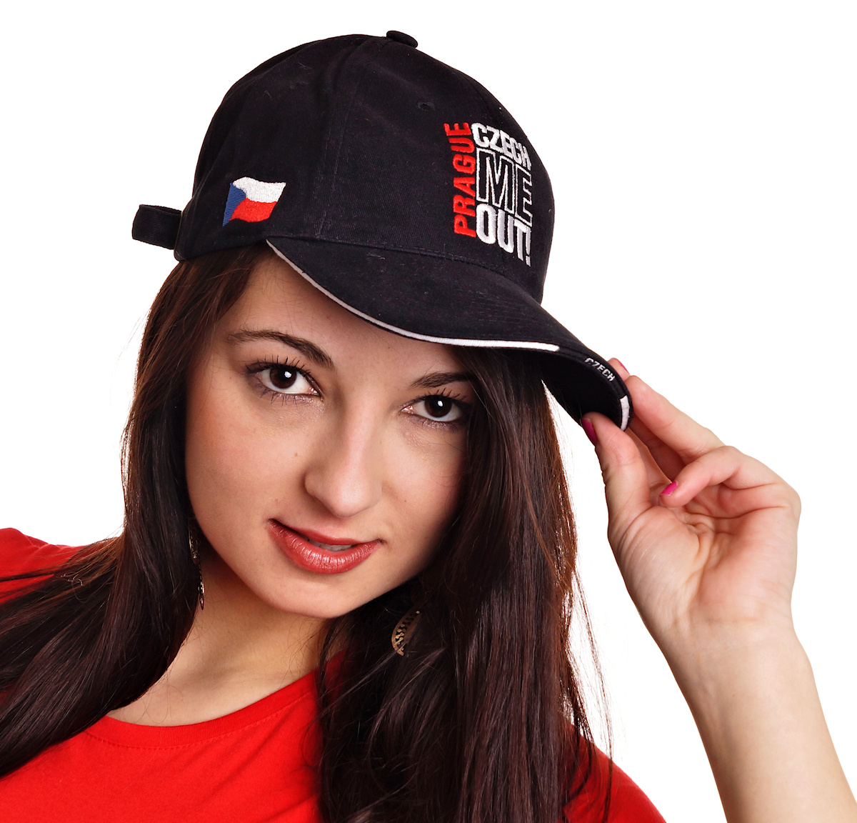 Prague Czech Me Out! baseball cap