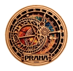 Prague Astronomical Clock wooden magnet