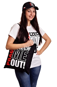 Prague Czech Me Out! canvas bag