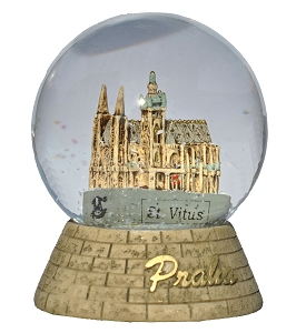 Prague St. Vitus Cathedral snow globe