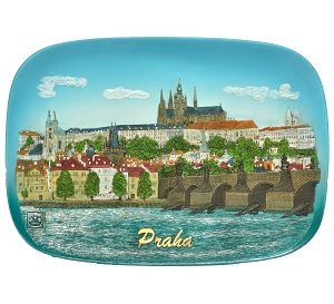 Prague Skyline ceramic picture