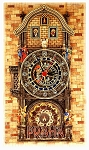 Prague Astronomical Clock large wooden picture clock