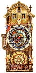 Prague Astronomical Clock painted wooden clock