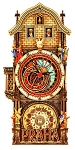 Premium Prague Astronomical Clock painted wooden clock