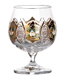 Bohemia Crystal Brandy Glass Originality with Gold & Enamel