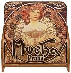 Alphonse Mucha wooden beer mats with story