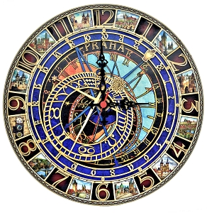 Premium Wooden Prague Astronomical Clock