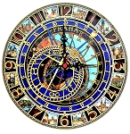 Premium Large Prague Astronomical Wooden Clock