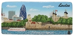 London Tower & City ceramic magnet panorama