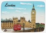 London Westminster & Doubledecker Bus ceramic magnet