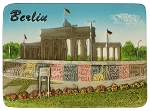 Branderburger Tor & Berlin Wall ceramic magnet