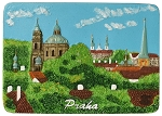 Prague Towers & Gardens ceramic magnet