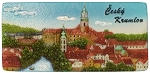 Cesky Krumlov City & Castle Panorama ceramic magnet