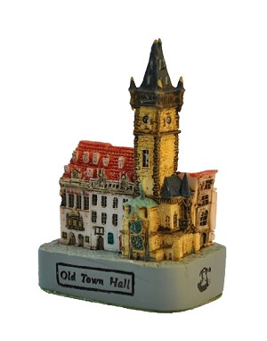 Prague Old Town Hall miniature small