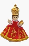 Genuine small figure of Infant Jesus of Prague 8cm