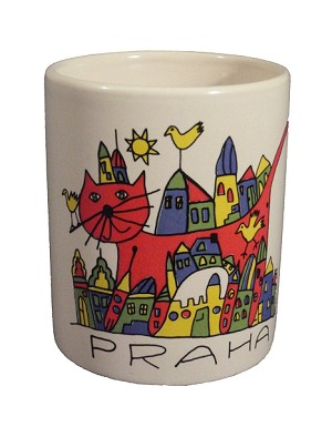Prague Lesser Town painted coffee mug