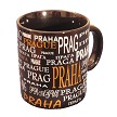 The Names of Prague coffee mug - black