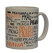 Ceramic mug Prague names - sand color