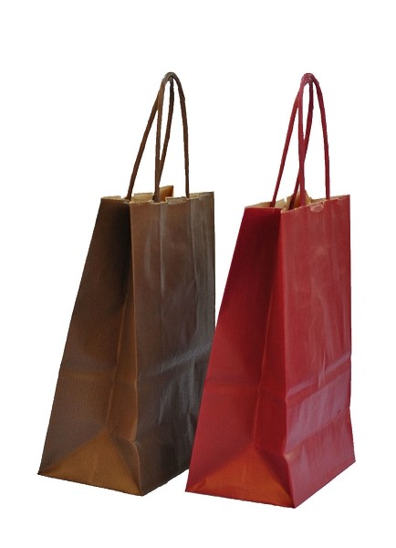 Conference paper bags - simple, red & brown