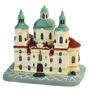 Prague St. Nicolaus Church ceramic model