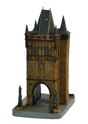 Prague Charles Bridge Tower miniature