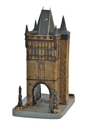 Prague Charles Bridge Tower ceramic model