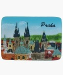 Ceramic Embossed Magnet Prague Old Town Towers wide