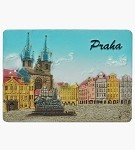 Ceramic Embossed Magnet Prague Old Town Square Houses
