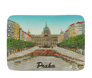 Prague Venceslav Square ceramic magnet