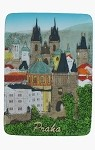 Ceramic Embossed Magnet Prague Old Town Towers