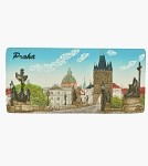 Ceramic Embossed Magnet Prague Charles Bridge & Old Town Panorama