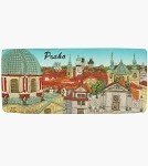 Ceramic Embossed Magnet Prague Old Town Towers Panorama