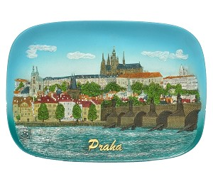 Ceramic embossed picture Prague skyline