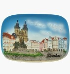 Ceramic embossed picture Prague Old Town Square
