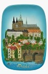 Ceramic embossed picture Prague Castle & Lesser Town