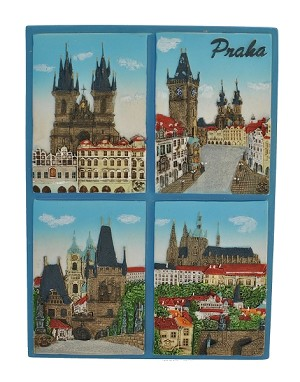Prague Main 4 motives ceramic picture