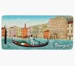 Ceramic Embossed Magnet Venezia Grand Canal Panorama