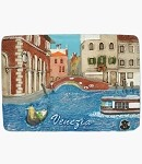 Ceramic Embossed Magnet Venezia Side Canal & Bridge
