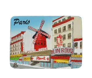 Paris Moulin Rouge ceramic magnet