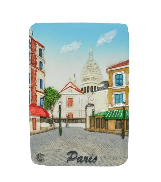 Paris Art District ceramic magnet