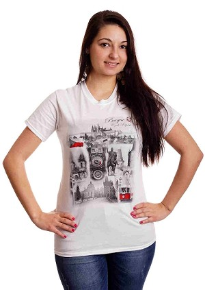 Prague Main Sights T-shirt