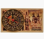 Prague Old Town Square wooden board clock