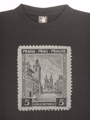 T-shirt Prague Old Town Square & Tyn Legacy Stamp