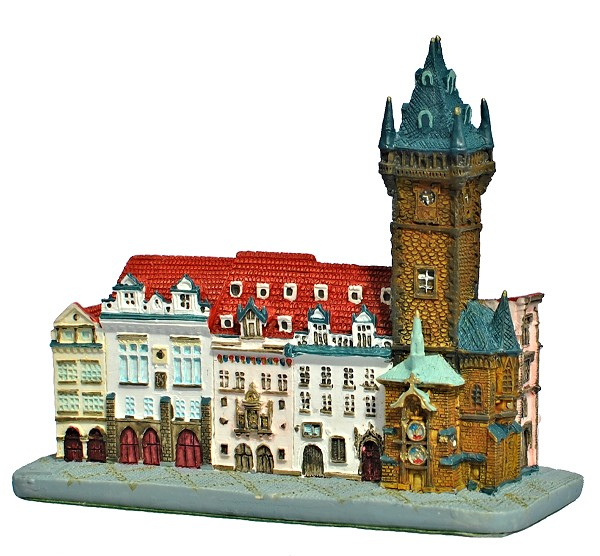 Prague Old Town Hall ceramic model - Southern view