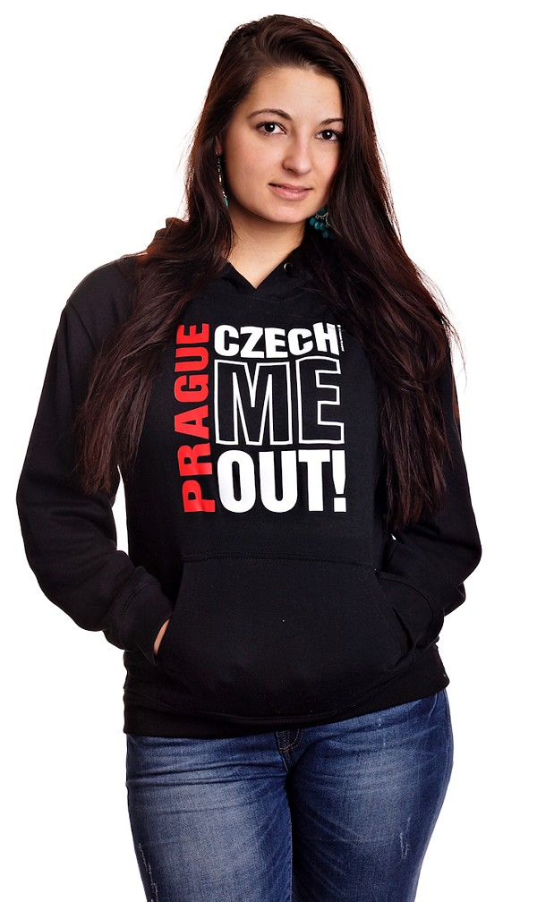 Prague Czech Me Out! sweatshirt - black