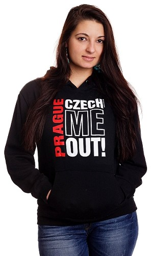 Prague Czech Me Out! sweatshirt with hood