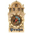 Prague Astronomical Clock wooden clock half tower - blue