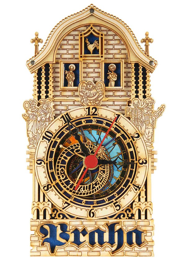 Prague Astronomical Wooden Clock - Half Tower